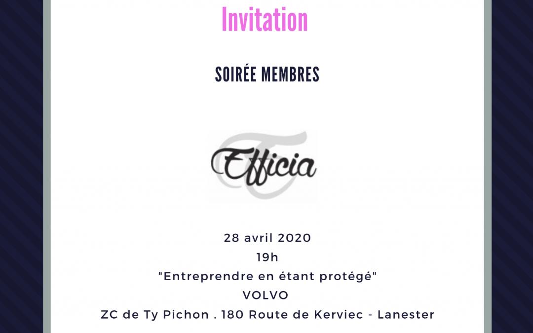 Soirée membres 28/04/2020