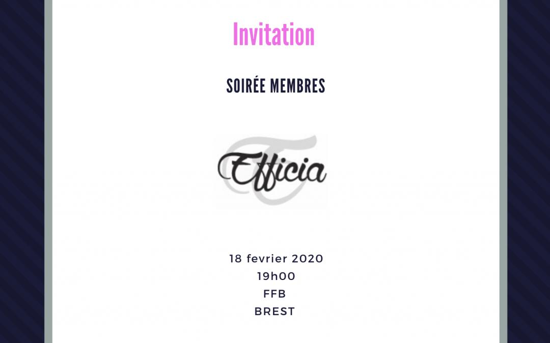 Soirée membres 18/02/2020