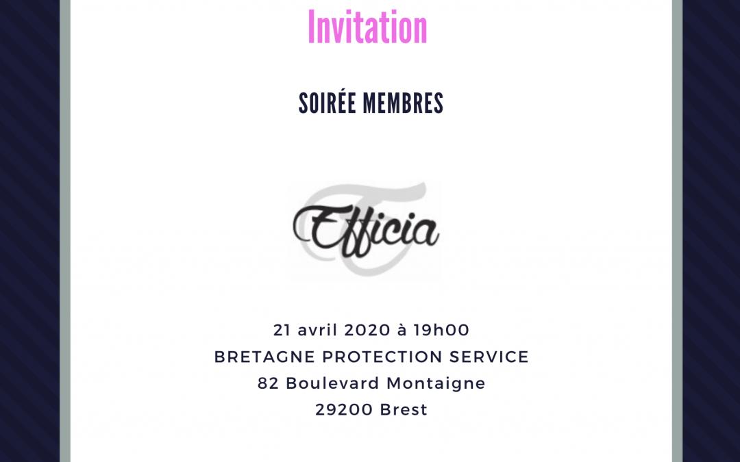 Soirée membres 21/04/2020