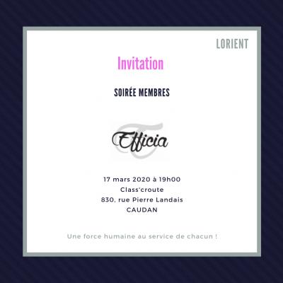 Soirée membres 17/03/2020