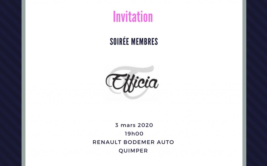 Soirée membres 03/03/2020