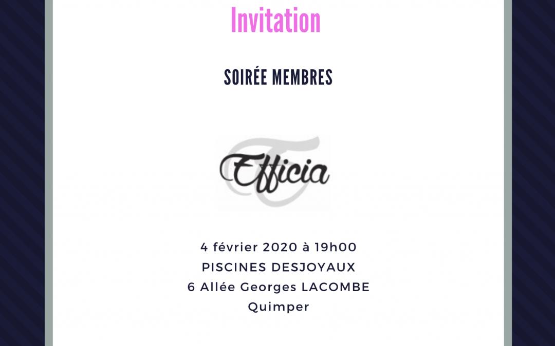 Soirée membres 04/02/2020