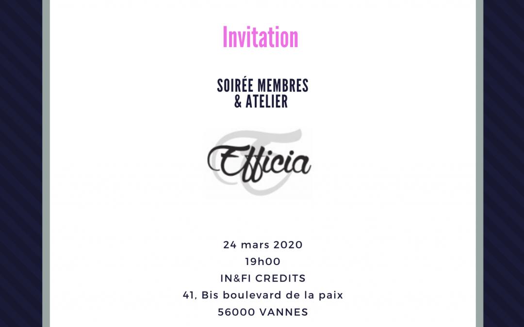 Soirée membres 24/03/2020