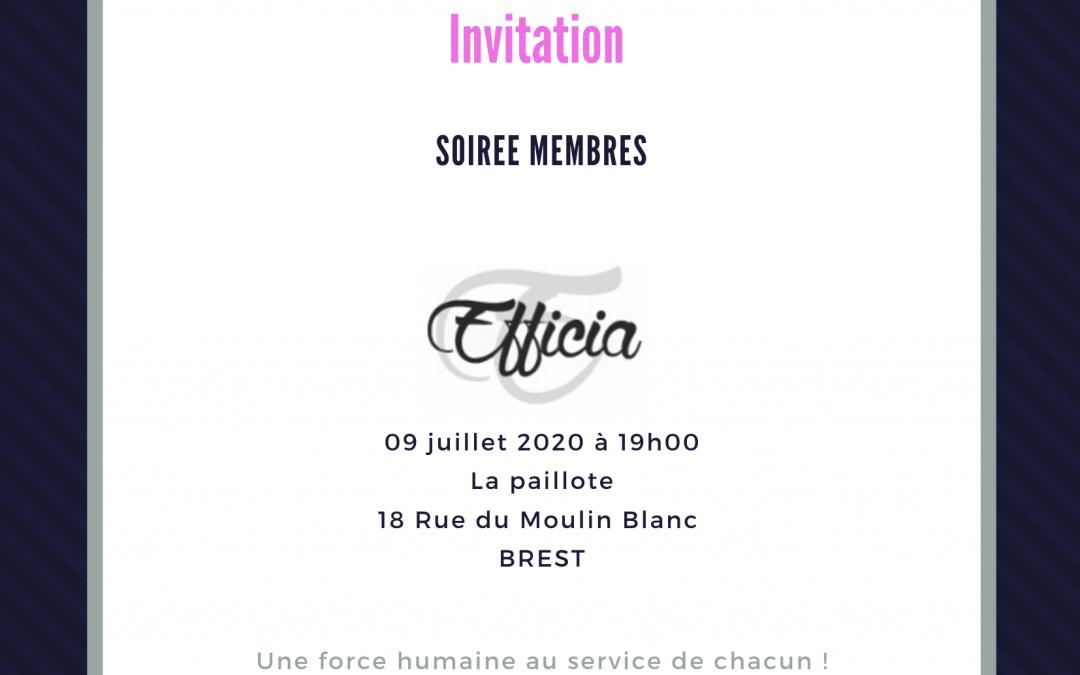 Soirée membres 09/07/2020