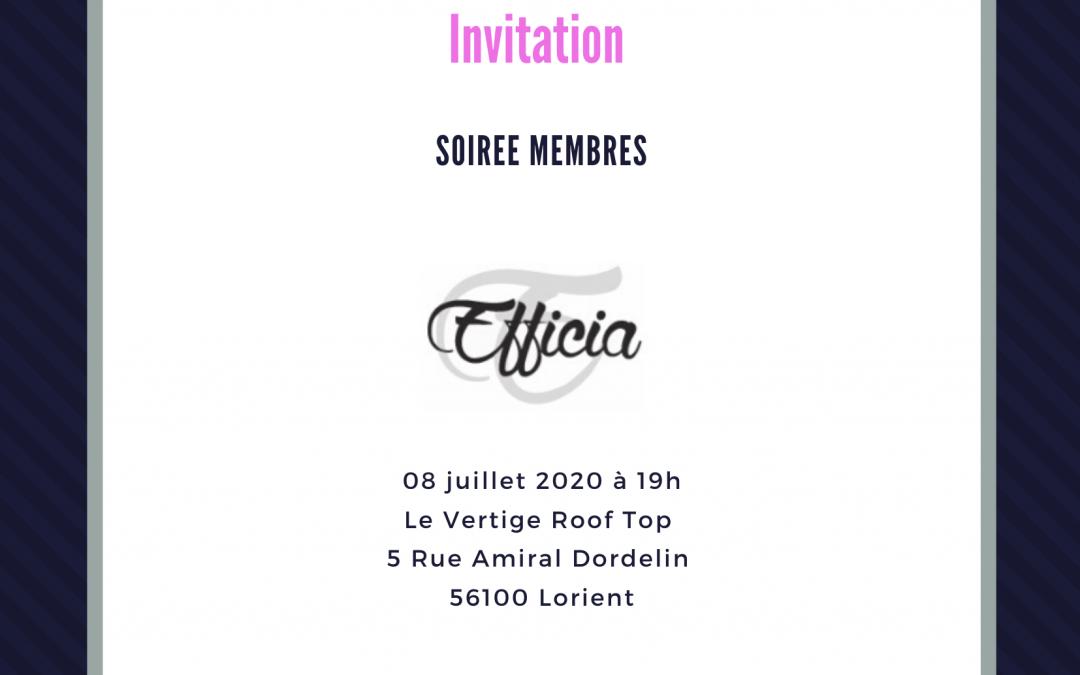 Soirée membres 08/07/2020