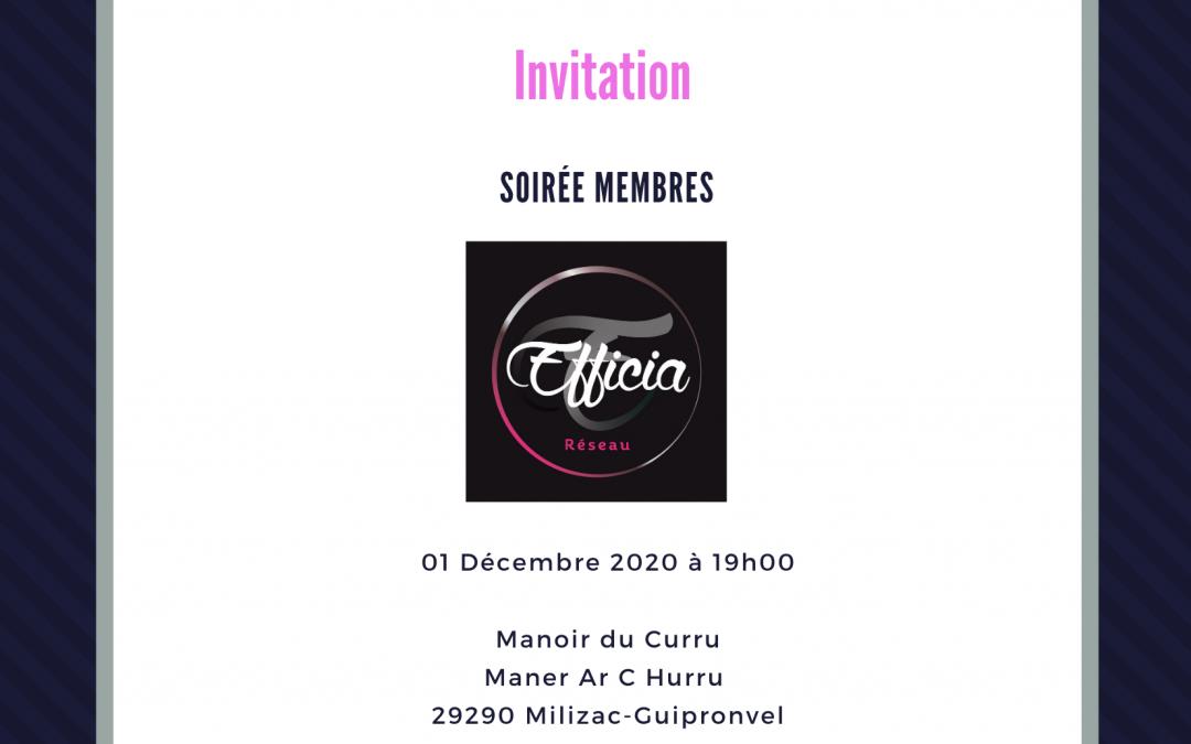 Soirée Membres 01/12/2020