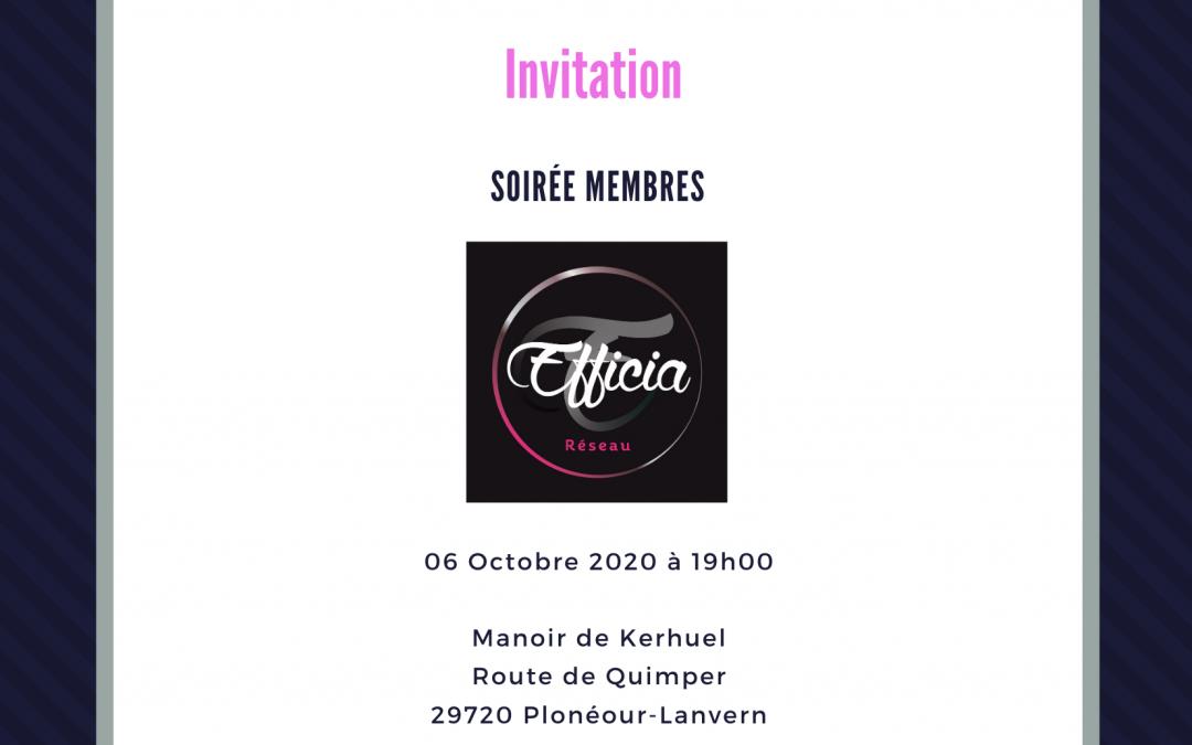 Soirée Membres 06/10/2020